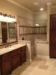 and gorgeous custom master bathrooms dark brown custom tile walk