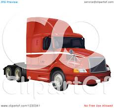 volvo big rig clipart of a red volvo 3610 big rig truck royalty free vector