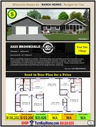 Decorating A Modular Home 2225 Brookdale E2 Wisconsin Homes Inc Modular Ranch Home Plan Price