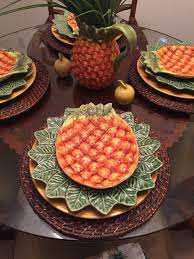 pineapple tablescape british colonial tropical decor pineapple