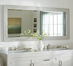 barn bathroom ideas pottery barn bathroom mirrors within classic wide mirror