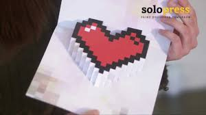 valentine u0027s day 3d pixel heart love cards learn how to make them