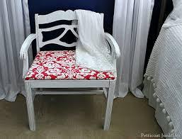 Bench Vanity Vintage Vanity Chair Rocks It In Red Petticoat Junktion