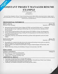 project manager resume assistant project manager resume sles vinodomia