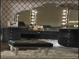 Cherry Bedroom Vanity Sets Bedroom Large Black Corner Makeup Vanity Set With Stainless