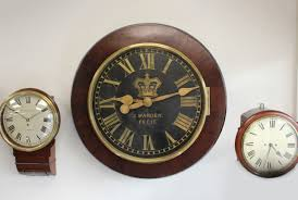 very large antique wall clock by j warden c 1850 england from
