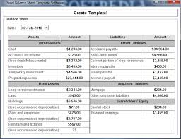 Excel Balance Sheet Template Free Excel Balance Sheet Template Software