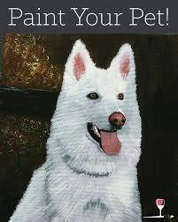 we are having a paint your pet painting party at wine design in lee s summit don t worry if you re not artistic this is an all levels painting party