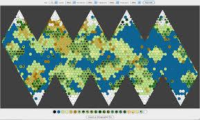 Pathfinder World Map by Icosahedral World Map Generator