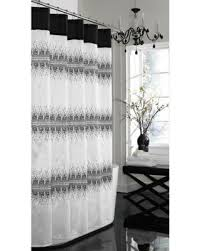 Black White Shower Curtain Amazing Deal On 72 X 72 Fabric Shower Curtain Black White