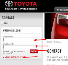 toyota financial car payment vehicle bill pay http guide