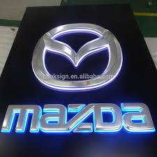 mazda car emblem mazda car logo vacuum formed with borad backlit indoor led sign