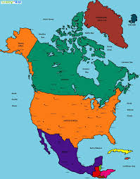 Canada Blank Map by Color Blank Map Of North America