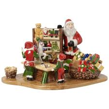 Spode Christmas Tree Santa Cookie Jar by Villeroy And Boch Christmas Santa And The Presents Everything