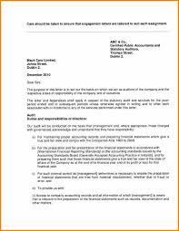 6 cpa engagement letter template audit letters