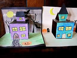 2nd Grade Halloween Crafts by Haunted House Pop Up Craft Halloween Holidays In The Classroom