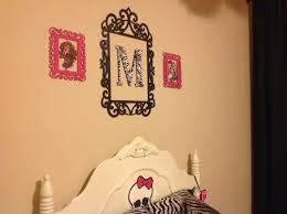 i painted wood frames from michaels zebra letter also from monster high room monster high characters bedroom themes bedroom ideas painted wood wood frames girl room wall stickers zebras