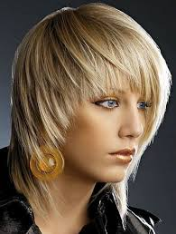 layered hairstyles with bangs and tuck behind the ears medium blonde shaggy hairstyles for fine hair with bangs 2017