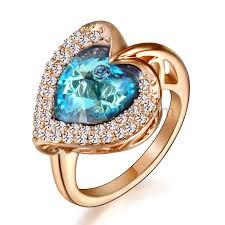 custom wedding rings gold plated custom engraved heart engagement ring for