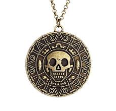 vintage style necklace images Vintage style pirates of the caribbean coin skull pendant necklace jpg