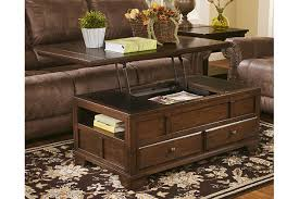 rectangle lift top coffee table gately coffee table with lift top ashley furniture homestore