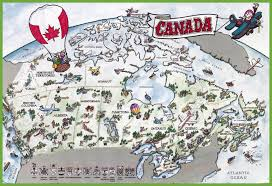 A Map Of Canada by Canada Tourist Map
