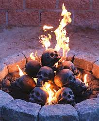 dragon fire pit fire pit skull logs the green head