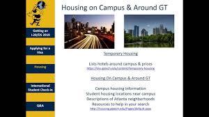 Student Housing In Atlanta Ga Georgia Tech Oie International Student Live Stream Pre Arrival