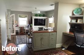 Before After A Cozy Family Room  Rehabitat - Cozy family rooms