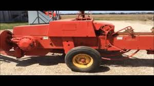 massey ferguson 124 small square baler youtube