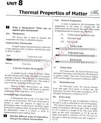9th class physics notes unit u20138 thermal properties of matter