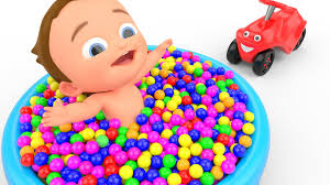 learn colors with 3d balls education learning kids children
