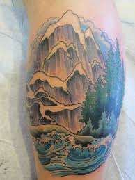 japanese wave mountain tattoo by pioneer tattoo