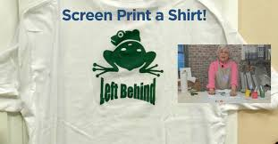 Screen Printed Aprons How To Do Screen Printing Transfers With Handprints Video Art