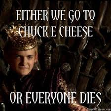 King Joffrey Meme - so glad he s dead now reminds me of damian in marvel game of
