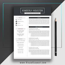 resume template the kimberly resume instant download
