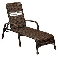Wicker Lounge Chair Hampton Bay Mix And Match Brown Wicker Outdoor Lounge Chaise 65