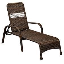 Home Depot Hampton Bay Patio Furniture - hampton bay mix and match brown wicker outdoor lounge chaise 65