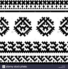 tribal seamless pattern siberian folk geometric print with stock