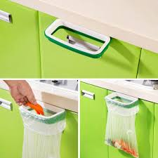 new cupboard door back trash rack storage sink garbage bag holder