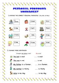 136 free esl personal pronouns worksheets