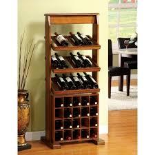 furniture of america sebastian antique oak 38 bottle wine rack