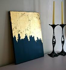 Shabby Chic Paintings by Midnight Gold Gold Leaf Painting Modern Art Acrylic Painting
