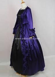 Halloween Ball Gowns Costumes 2016 Elegant Vintage Dark Blue Black Long Sleeves Bow Bead
