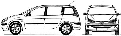 peugeot 206 sw the blueprints com blueprints u003e cars u003e peugeot u003e peugeot 206 sw