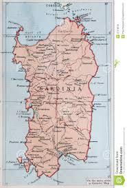 Sardinia Map Old 1945 Map Of Sardinia Stock Illustration Image 47416618