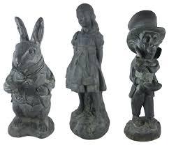 white rabbit mad hatter oxidized garden