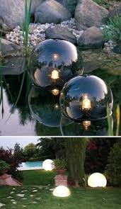 Floating Solar Pond Lights - pond lighting product set of glass globe floating pond lights
