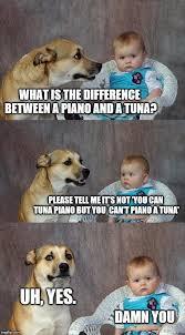 Tuna The Dog Meme - dad joke dog meme imgflip