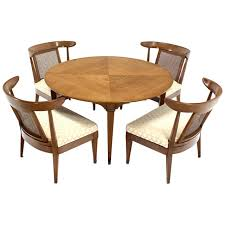 mid century modern bridge game table with four chairs set at 1stdibs
